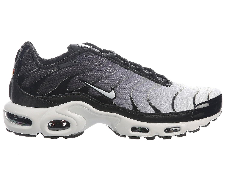 NIKE Men's Air Max Plus Nylon Running Shoes B07C65MJJ5 13 M US|Black/White