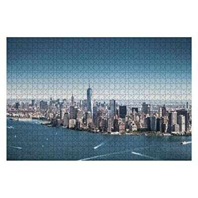 1000 Piece New York Cityscape Modern Downtown Skyline Large Piece Jigsaw Puzzles for Adults Educational Toy for Kids Creative Games Entertainment Wooden Puzzles Home Decor: Toys & Games