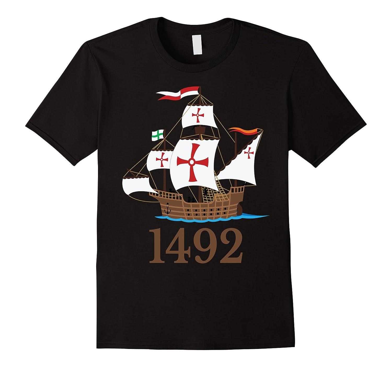 1492 Nautical Ship Columbus Day T-Shirt Sailing Holiday Gift-T-Shirt