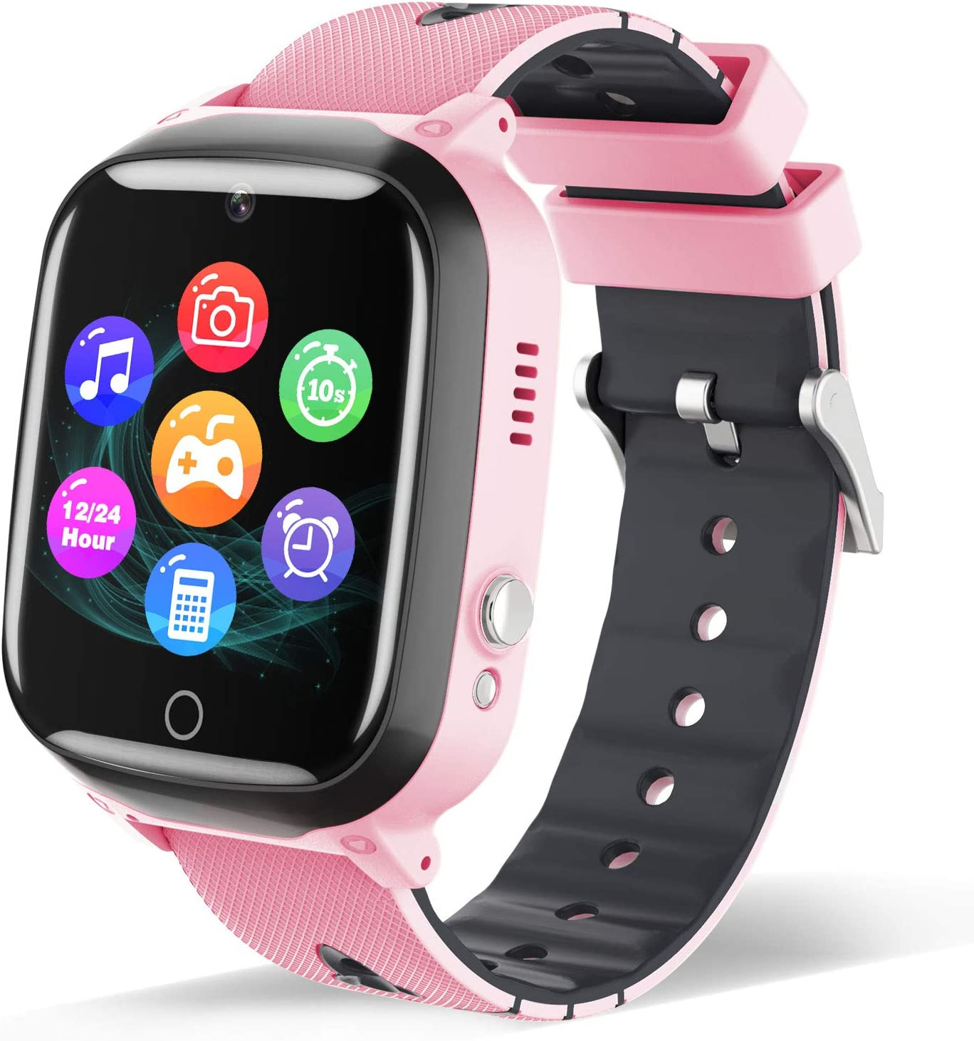 Smart Watch for Kids - Children Smartwatch Boys Girls with 2 Way Phone Calls 7 Intelligent Games Music MP3 Player Camera Calculator Alarm Timer 12/24 Hours for 4-12 Years Old Students (Pink)