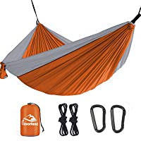 Deals on Favorland Camping Hammock Double & Single with Tree Strap