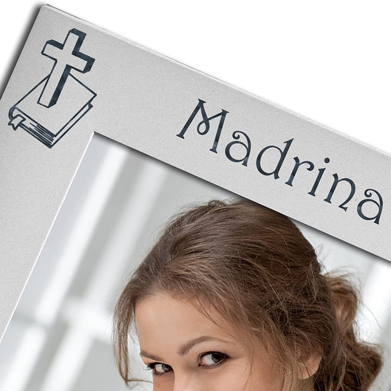 Madrina, chapado en plata, con dorso de terciopelo, marco de fotos ...