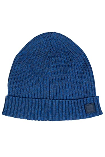 BOSS Hugo Orange Araffeno Ribbed Beanie Blue Hat One Size  Amazon.co ... 92196f9e1394