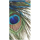 "Peacock Feather Custom Towel Beach Bathroom Shower Towel Bath Towel Personality Soft And Comfortable 30""x56"""