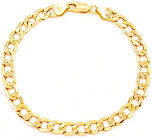 "Real 14k Yellow Gold Womens 2.5mm Genuine Italian Rope Chain Bracelet Anklet 8/"""