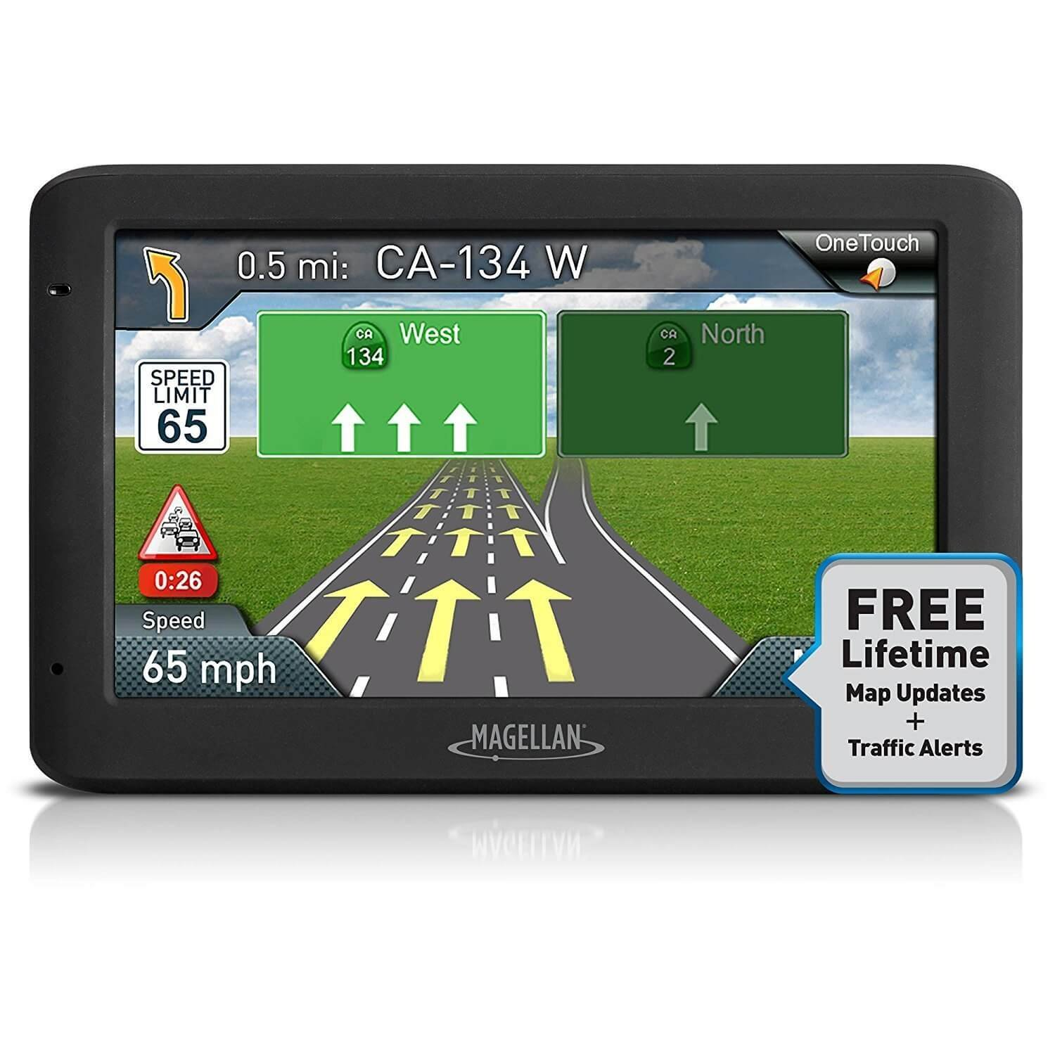 Magellan Roadmate 5635T-LM 5'' Touch Portable GPS 3D Navigation System w/ North American Maps (Certified Refurbished) by Magellan