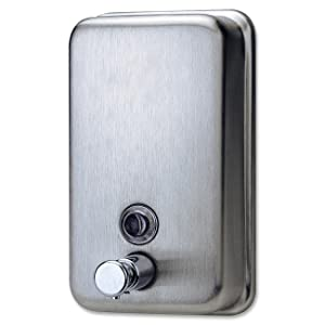 Genuine Joe GJO02201 Stainless Steel Manual Soap Dispenser, 31.5 fl oz Capacity