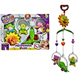 Vibgyor Vibes™ 5 PCS Lovely Colourful Musical Hanging Rattle Toys with Hanging Cartoons for Toddlers/Babies/Infants/Newborns