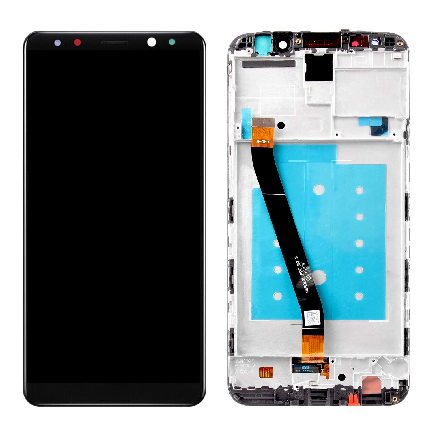 Screen Replacement for Huawei Mate 10 Lite, Compatible with RNE-L01 RNE-L21 RNE-L23 LCD Display Touch Screen Replacement Digitizer Assembly with Repair Tools Kit (Black with Frame) by Puzzle