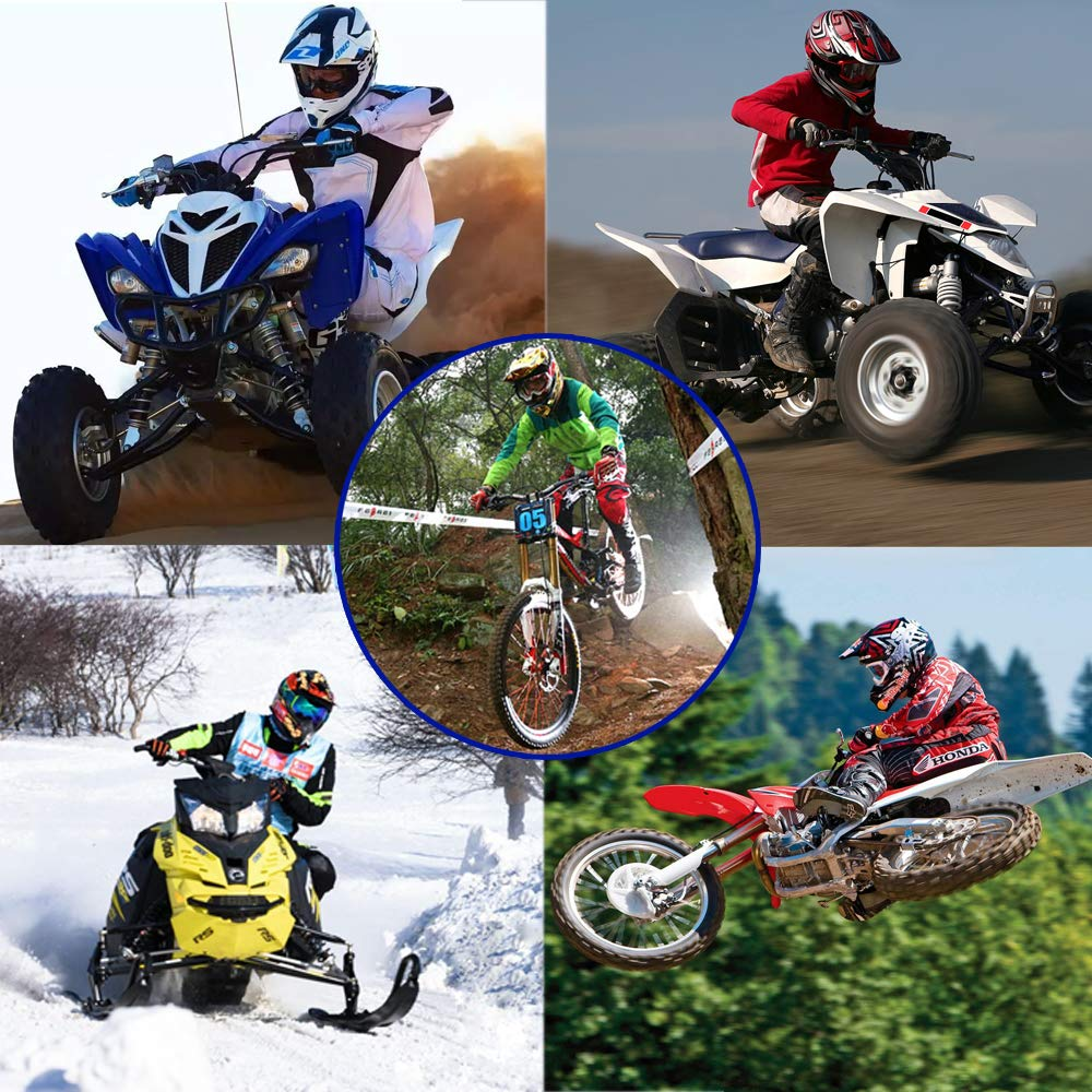 Adult Helm Sport Adventure Enduro Motorradhelme Motocross Schutzhelm Unisex MTB Schutz Sicherheit Helm mit Handschuhe Maske Brille,L56~57CM PKFG/® AO-330 Full face Motocross Helm