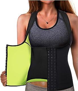 2a40a2587a1 Gotoly Waist Trainer Corset Hot Neoprene Sweat Vest Weight Loss Body Shaper  Workout Tank Tops Women