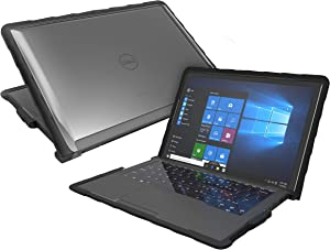 Gumdrop DropTech Case Designed for Dell Latitude 7389 and 7390 13 Inch 2-in-1 Laptop for K-12 Students, Kids - Black, Shock Absorbing, Extreme Drop Protection