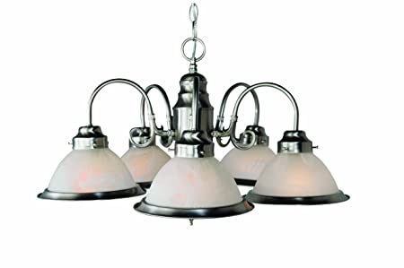 Trans Globe Lighting 1092 BN Indoor Baldwin 23 Chandelier, Brushed Nickel