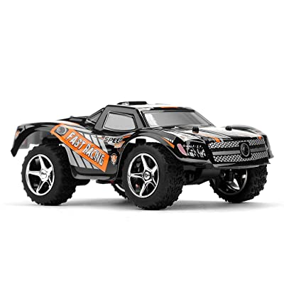 DAZHONG RC Truck, Wltoys 2.4GHz 5 CH High-speed Remote Control RC Car with Scale Black