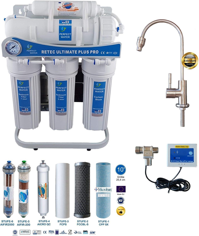 Retec Osmoseanlage 600 GPD Perfect Water No. 1 Ultimate Plus PRO Mod. 2020 Direct Flow kein Tank nötig Umkehrosmosewasserfilter Wasserfilter Trinkwasser Umkehrosmose Reverse Osmosis: Amazon.de: Küche & Haushalt - Osmoseanlage