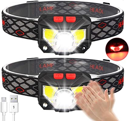 Stirnlampe 800 Lumens Super hell USB Wiederaufladbare LED Mini