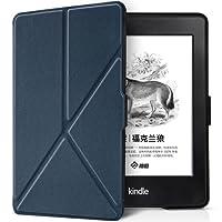 柏图 轻薄折叠式支架保护套 适用于Kindle Paperwhite电子书阅读器(1代、2代、3代均可适用)KPW3保护壳 全新Kindle Paperwhite3保护套(内附贴膜套装)K5-10 墨水蓝