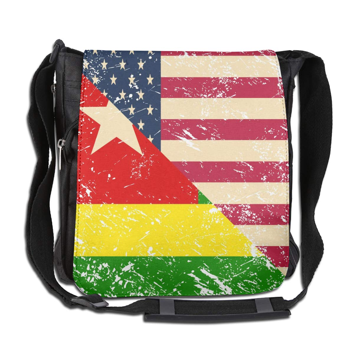 Unisex Durable Satchel Messenger Bags American And Togo Retro Flag2 Crossbody Shoulder Bag Traveling Bag For School//Work//Trips