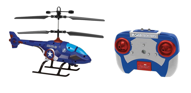 World Tech Toys 34890 Marvel Captain America-fürmiges 2 CH IR Hubschrauber