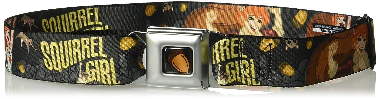 Buckle-Down Mens Seatbelt Belt Squirrel Girl Regular 1.5 Wide-24-38 Inches Multicolor