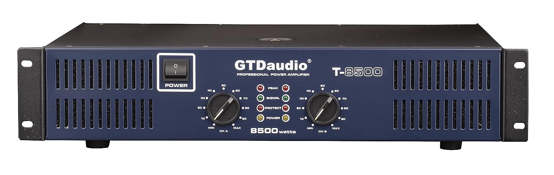 GTD Audio 2 Channel 8500 Watts 2U Stereo Professional Power Amplifier AMP GTD Audio inc T8500
