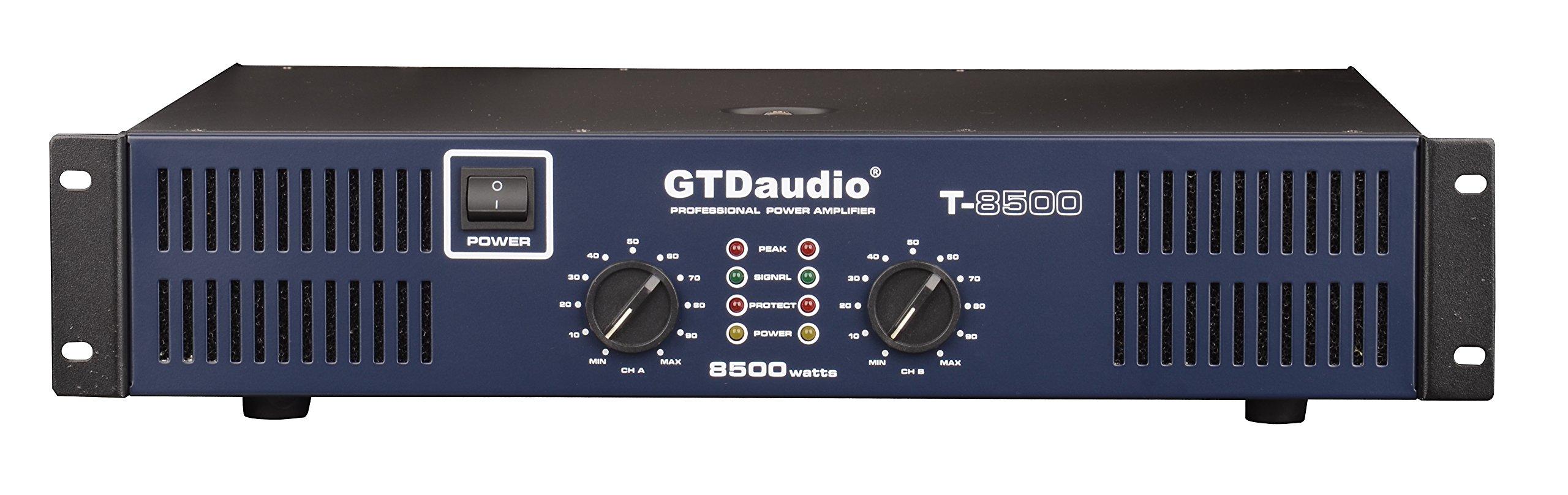 GTD Audio 2 Channel 8500 Watts 2U Stereo Professional Power Amplifier AMP by GTDaudio