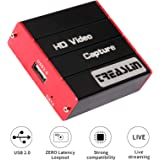 Game USB Capture Card, HD 1080P Video Capture Card Live Streaming Share for PS4 Nintendo Switch Wii U DSLR Xbox on OBS, XSpli
