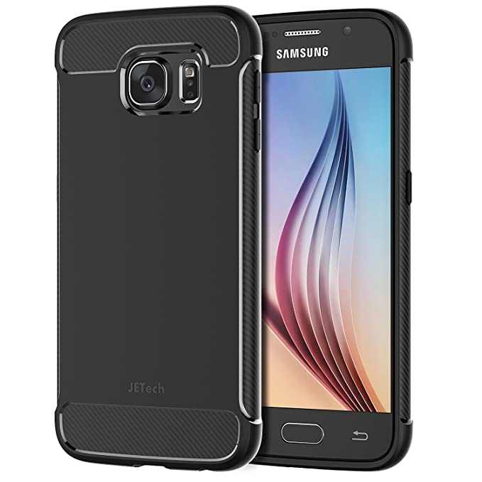 34659710f1 JETech Case for Samsung Galaxy S6 Protective Cover with Shock-Absorption  and Carbon Fiber (Black): Amazon.co.uk: Electronics
