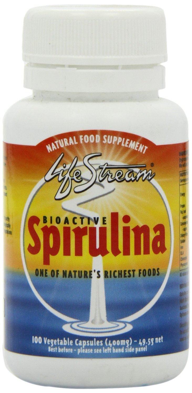(10 PACK) - Lifestream Bioactive Spirulina 400Mg Capsules   100s   10 PACK - SUPER SAVER - SAVE MONEY