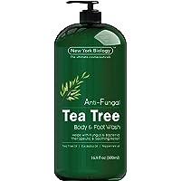 Antifungal Tea Tree Body Wash - HUGE 16 OZ - Helps Nail Fungus, Athletes Foot, Ringworms...
