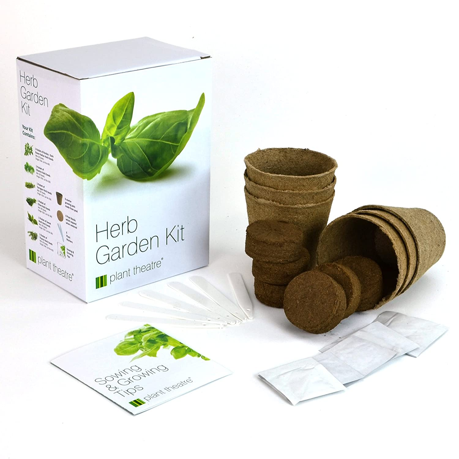 Herb Kitchen Garden Kit Herb Garden Seed Kit Gift Box 6 Different Herbs To Grow Amazon