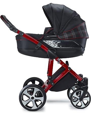 mewmewcat 2-in-1 Buggy Kinderwagen Klappbar Kindersportwagen ab Geburt nutzbar Regenschutzhaube f/ür Babys und Kleinkinder Aluminium Praktische f/ür Kinder bis zu 15 kg Grau und Schwarz