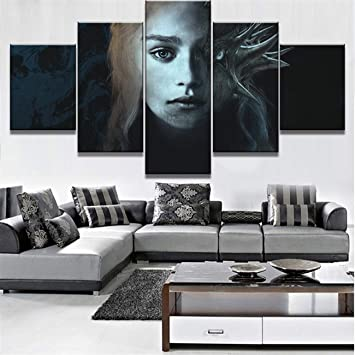 Amazon.com: NATVVA Modern Wall Art Painting Bedroom Decor ...