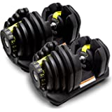 MRG 可変式 ダンベル 40kg アジャスタブルダンベル 5~40kg 17段階調節 ダイヤル 可変ダンベル [1年保証]