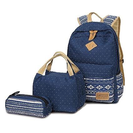 Mochila Escolar para Chica, Supstar Mochilas infantil Bolsas Escolares Casual Bolso Mochila de Viaje (azul)