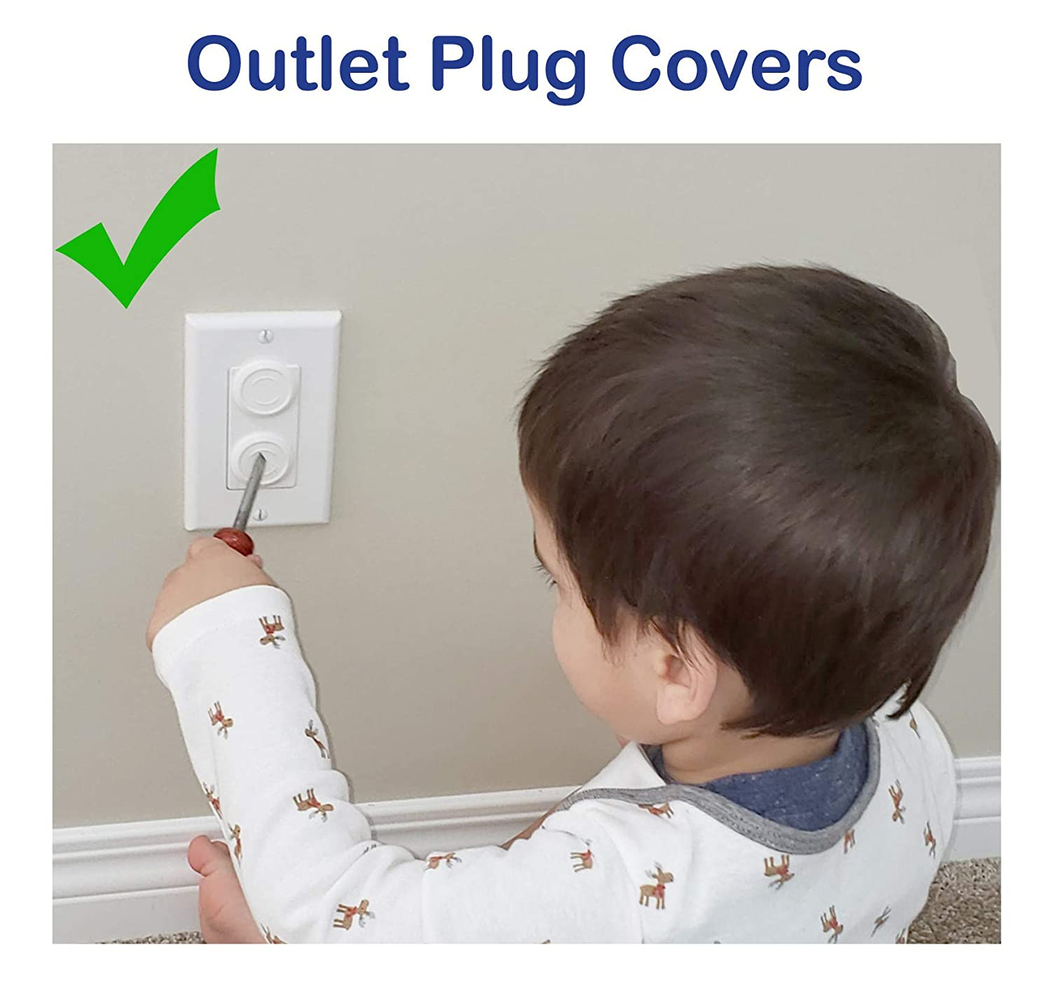 Baby Safety Outlet Plug Covers 48 Pack