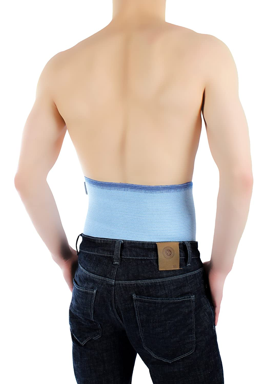 ®BeFit24 Nierengurt für Damen und Herren - Nierenwärmer - Wärmegürtel - Rückenwärmer - [ Size 8 - Himmelblau ]