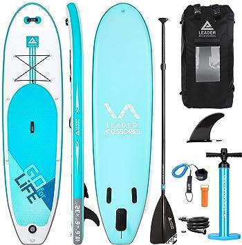 Leader Accessories Tabla Paddle Surf Hinchable 320x81.28x15.24cm ...