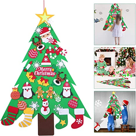 Holiday Christmas Party Christmas Tree wth Presents Applique Pants Set Santa Pictures