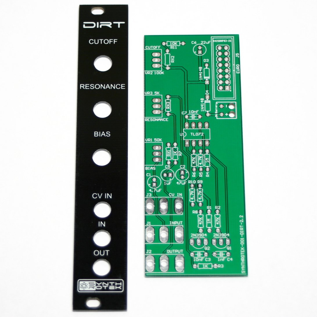 Synthrotek DIRT Filter PCB and Panel