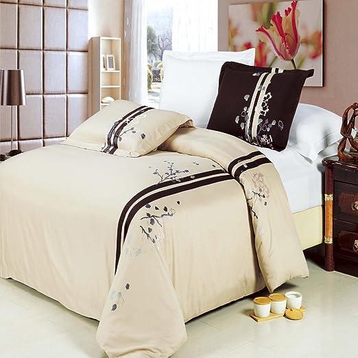 Fábrica de algodón egipcio de lujo de la tienda 8 piezas Samantha bordada cama en un