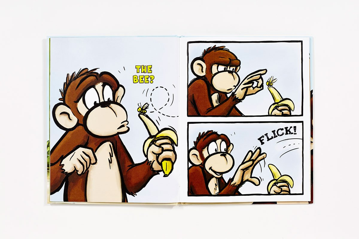 The Monkey and the Bee (The Monkey Goes Bananas) by Abrams Books for Young Readers (Image #5)