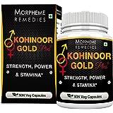 Morpheme Remedies Kohinoor Gold Plus (With Shilajit, Ashwagandha, Safed Musli, Mucuna, Tribulus) - 90 Veg Capsules