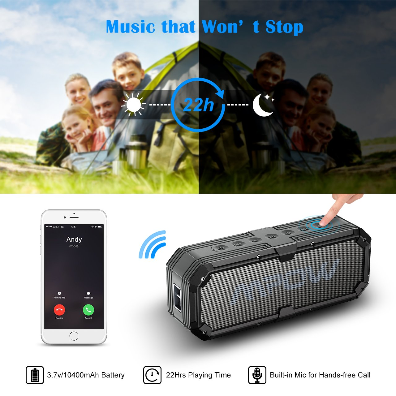 Mpow Bass Bluetooth Speaker