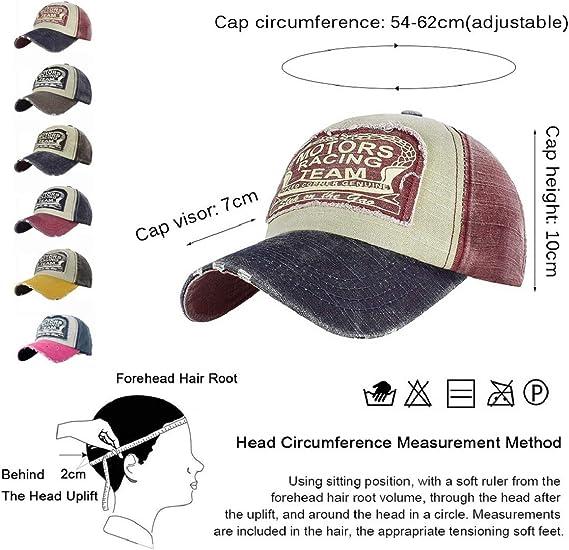 Tuopuda Cappellino Baseball Vintage Unisex Snapback Pianura di Hip-Hop del Berretto da Baseball Cotone Moto Tappo