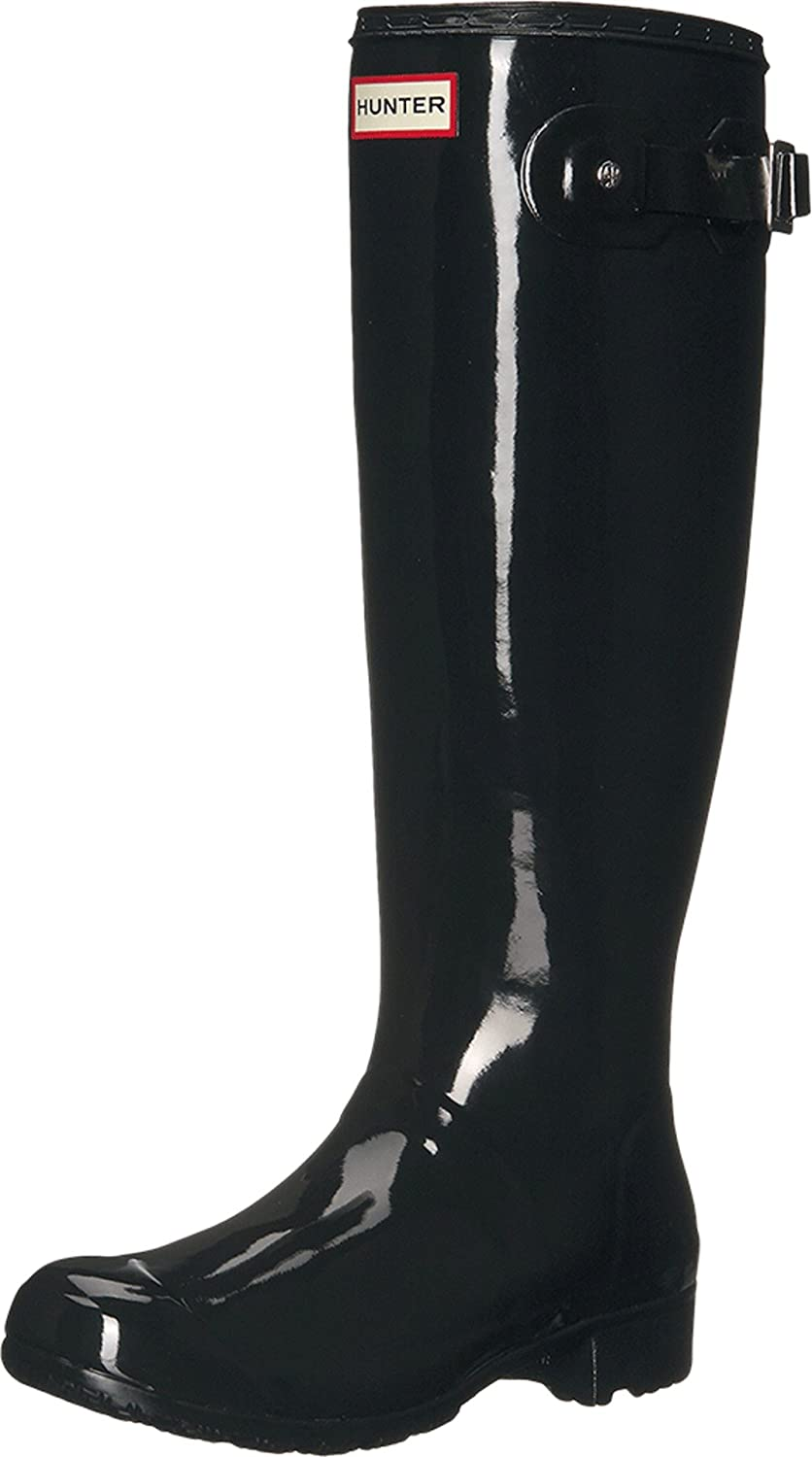 Hunter Womens Original Tour Gloss Packable Rain Boot B00PV0V4HW 6 B(M) US|Black