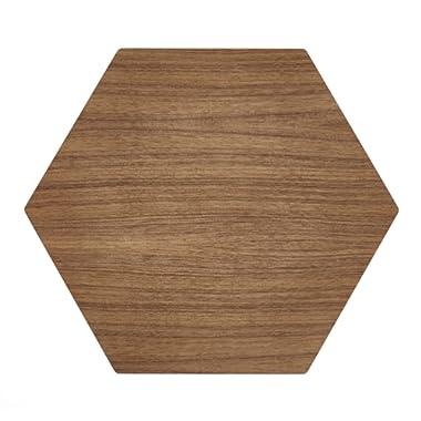 Epicurean Hexagon Display/Serving Board, 17 by 14.5 , Walnut/Slate