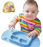 EasyMat Plaque d'aspiration Portable pour bébé (Bleue)
