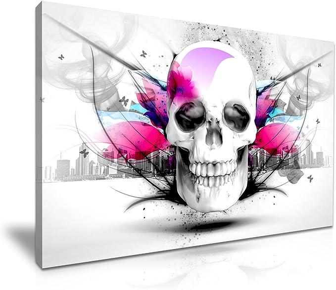 Acheter tableau peinture tete de mort online 6