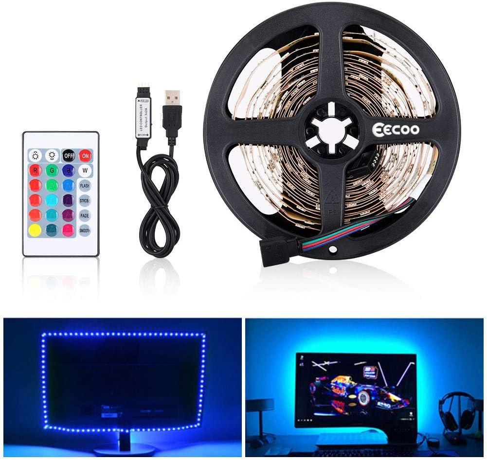 LED Tira de TV, Tiras LED Iluminación 5V 5m 150leds 5050 Tira de ...